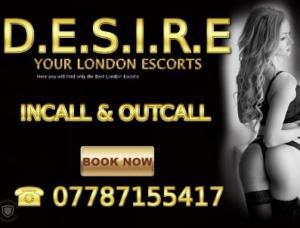 Desire London Companions - Mens and ladies escort agencies London 1