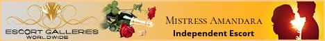 Mistress Amandara Independent Escort Banner